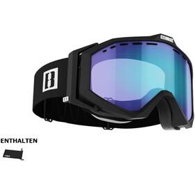 Bliz Edge Drop Glasses matte black/light orange/blue multi